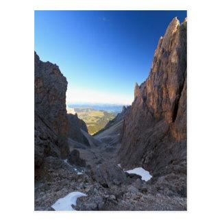 Dolomites at morning postcard