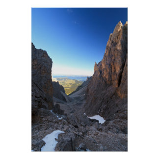 Dolomites at morning posters