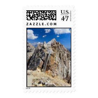 Dolomites - Costabella ridge Postage Stamp