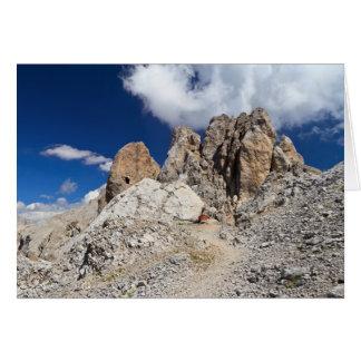 Dolomites - Costabella rock Card