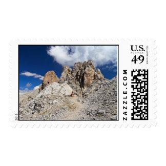 Dolomites - Costabella rock Stamp