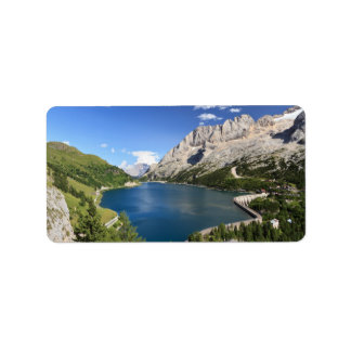 Dolomites - Fedaia lake and pass Address Label