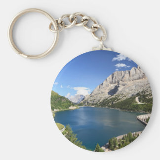 Dolomites - Fedaia lake and pass Basic Round Button Keychain
