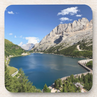 Dolomites - Fedaia lake and pass Drink Coaster