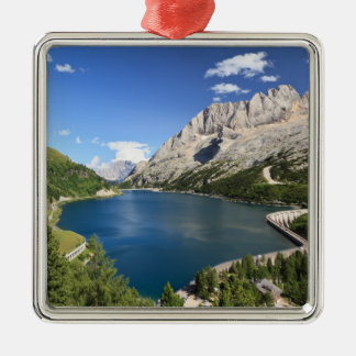 Dolomites - Fedaia lake and pass Metal Ornament