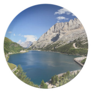Dolomites - Fedaia lake and pass Plate
