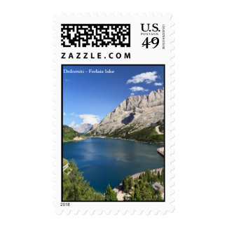 Dolomites - Fedaia lake and pass Stamps