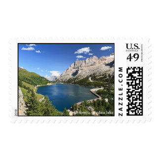 Dolomites - Fedaia lake and pass Postage Stamp