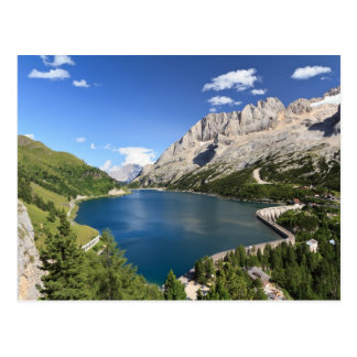 Dolomites - Fedaia lake and pass Postcard