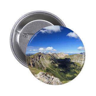 Dolomites landscape on summer pinback button
