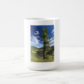 Dolomites - tree over the valley coffee mug
