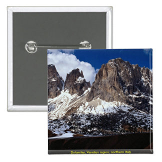 Dolomites, Venetian region, northern Italy Pinback Buttons