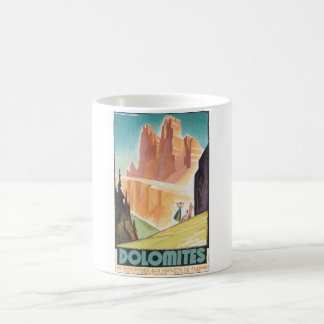 Dolomites Vintage Travel Poster Coffee Mug