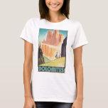 Dolomites Vintage Travel Poster T-Shirt