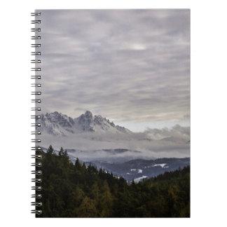 Dolomites winter scene note books