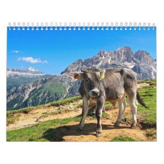 Dolomiti - alpine pasture calendar