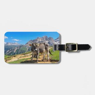 Dolomiti - alpine pasture luggage tag