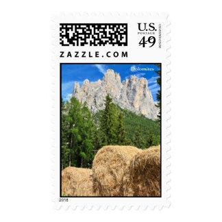 Dolomiti - alpine pasture stamp