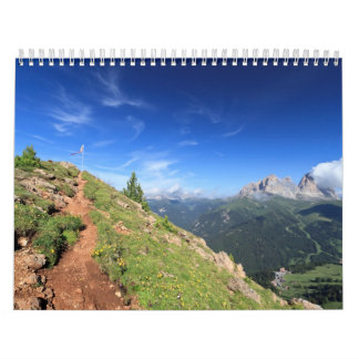 Dolomiti -  belvedere over Fassa Valley Calendar