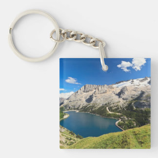 Dolomiti - Fedaia lake and Marmolada mount Keychain