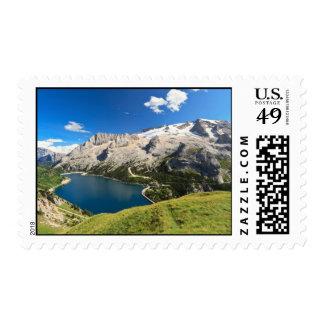 Dolomiti - Fedaia lake and Marmolada mount Postage Stamp