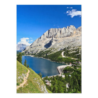 Dolomiti - Fedaia pass with lake 5.5x7.5 Paper Invitation Card