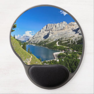 Dolomiti - Fedaia pass with lake Gel Mouse Pad