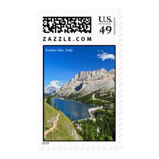 Dolomiti - Fedaia pass with lake Postage