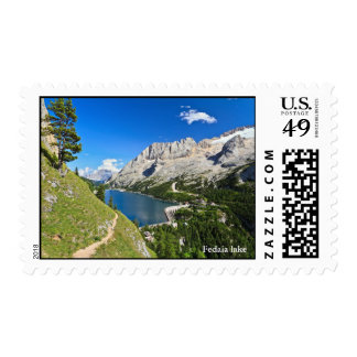 Dolomiti - Fedaia pass with lake Stamps