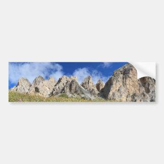 Dolomiti - flowered meadow bumper sticker