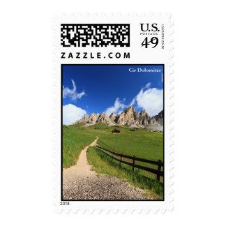 Dolomiti - flowered meadow stamp