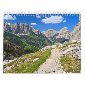Dolomiti - footpath in Val Badia Calendar