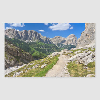 Dolomiti - footpath in Val Badia Rectangle Stickers