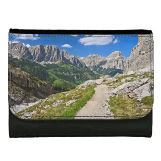 Dolomiti - footpath in Val Badia Leather Wallet For Women
