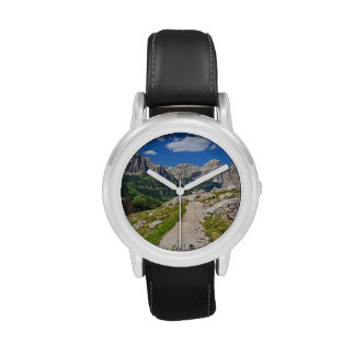 Dolomiti - footpath in Val Badia Wrist Watches