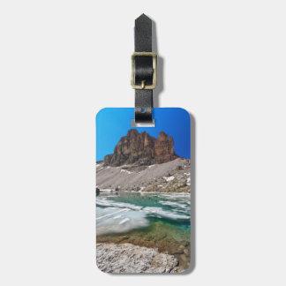 Dolomiti - lago Pisciadu Etiqueta Para Maleta