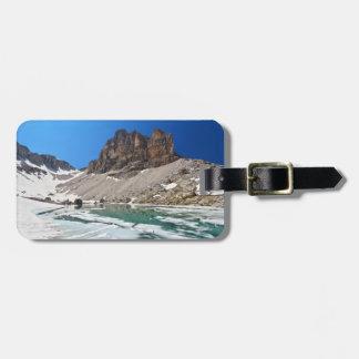 Dolomiti - lago Pisciadu Etiqueta Para Equipaje