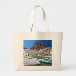 Dolomiti - lake Pisciadu Canvas Bag
