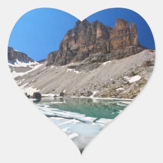 Dolomiti - lake Pisciadu Heart Sticker