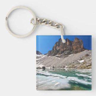 Dolomiti - lake Pisciadu Square Acrylic Key Chain