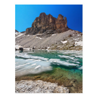 Dolomiti - lake Pisciadu Postcard