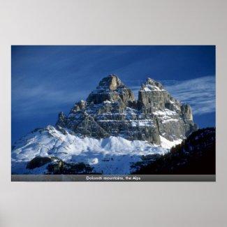 Dolomiti mountains, the Alps print