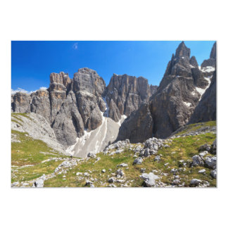 """Dolomiti - Piz da Lech and Mezdi valley 5"""" X 7"""" Invitation Card"""