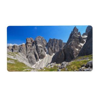 Dolomiti - Piz da Lech and Mezdi valley Label