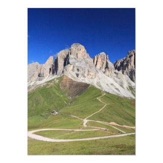 Dolomiti - Sassolungo mount 5.5x7.5 Paper Invitation Card