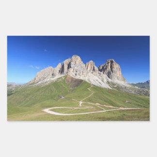 Dolomiti - Sassolungo mount Rectangular Sticker