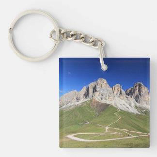 Dolomiti - Sassolungo mount Single-Sided Square Acrylic Keychain