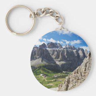Dolomiti - Sella group and Gardena pass Basic Round Button Keychain