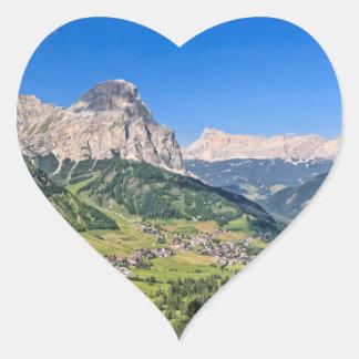 Dolomiti - Val Badia Pegatina En Forma De Corazón