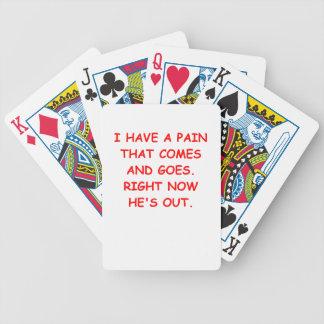 dolor baraja de cartas